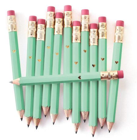 Pencils - mint green back to school supplies