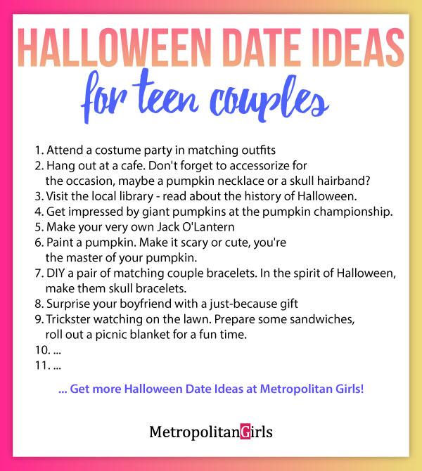 teen couple #date ideas #halloween