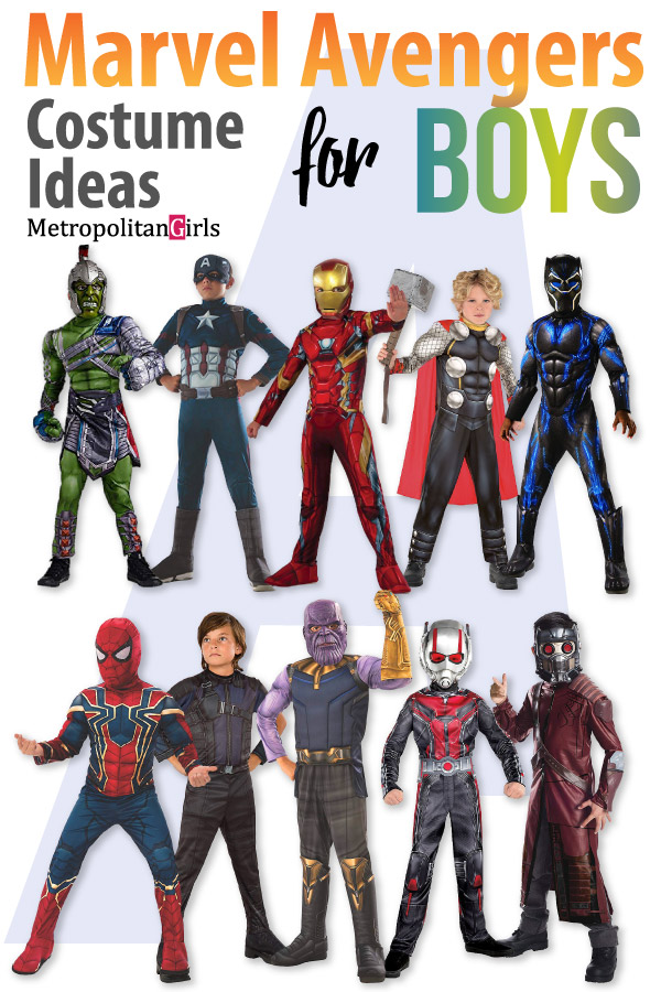 halloween costumes for tween boys - marvel avengers superheroes
