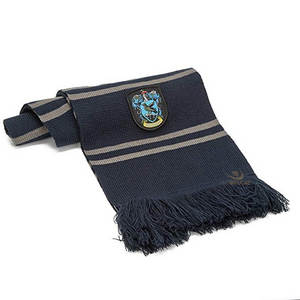 Closest to the Harry Potter Movies: Ultra Soft Knitted Senior Year Ravenclaw Scarf