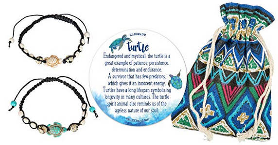 tropical gemstone turtle bracelets anklets