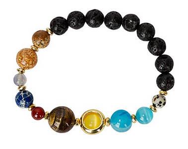 solar system gemstone bead bracelets