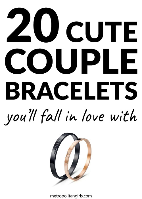 20 matching couple bracelets
