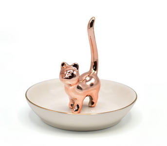 cute-ring-holder rose gold kitten