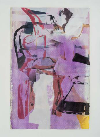 SK8 2017 painting by amy sillman