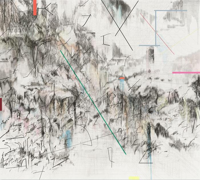 Co-Evolution of the Futurhyth Machine (after Kodwo Eshun), 2013, by Julie Mehretu