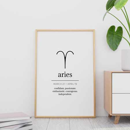 Aries Wall Art | Gifts for Aries