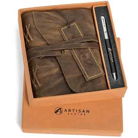 best-gifts-for-taurus-leather-journal-gift-set