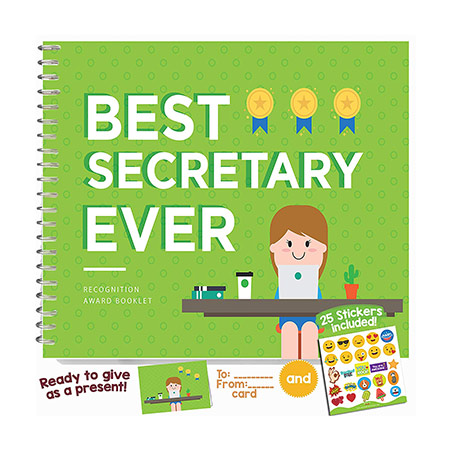 Best Secretary Ever Booklet - appreciation gift for secretary