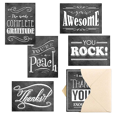 Chalkboard Thank You Notes - inexpensive bulk employee gift for staff