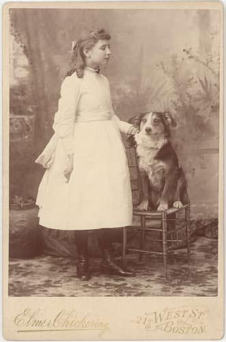 Keller and Childhood Dog   Helen Keller Biography