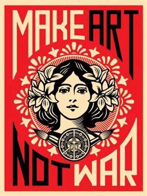 best-gifts-for-scorpio-make-art-not-war-poster