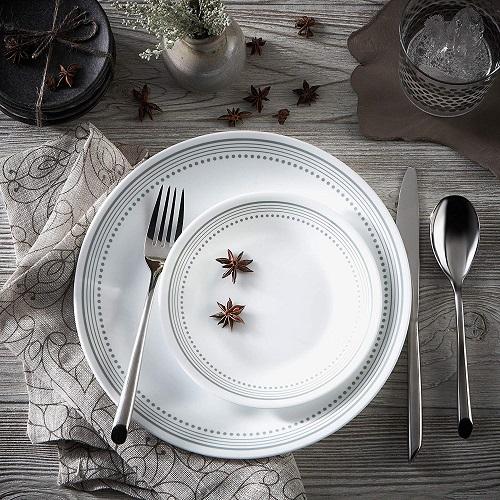 Sleek White Dinnerware Set
