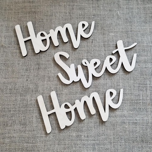 Home Sweet Home Wooden Sign