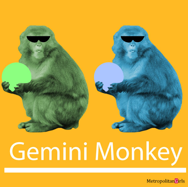 Featured image for this article that is about the Gemini-monkey sign.