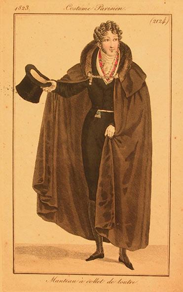 Man wearing a cape 1823