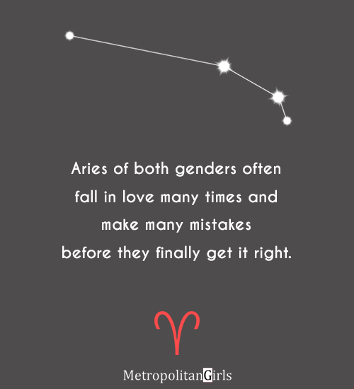 Aries often fall in love many times - quotes about aries and romantic relationship