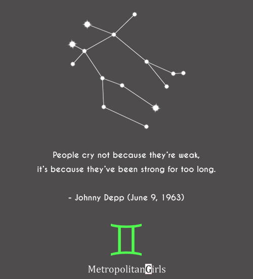 famous gemini man johnny depp quote