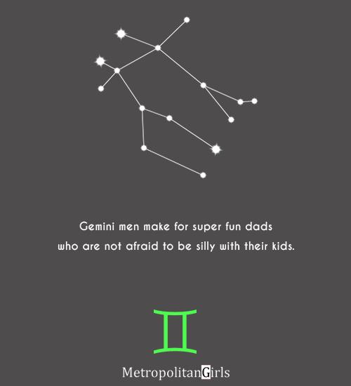 Gemini men make for super fun dads - quote about gemini dad