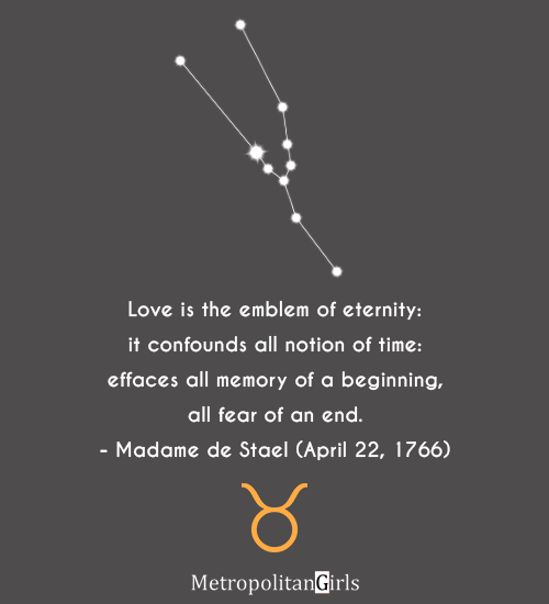 quote by famous taurus Madame de Stael