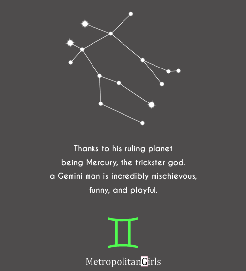 thank to his ruling planet being mercury - quote about gemini men