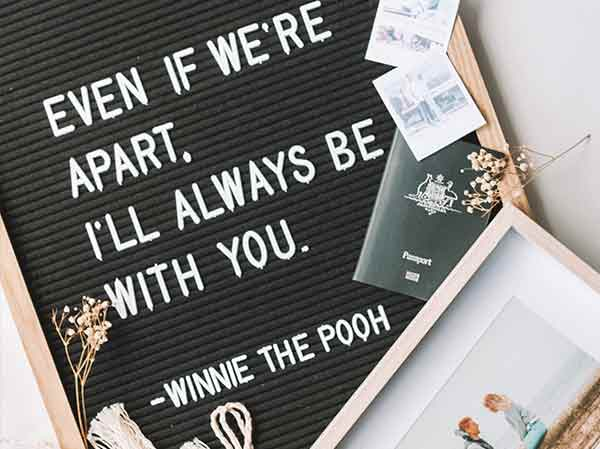 winnie the pooh LDR long-distance relationship quote