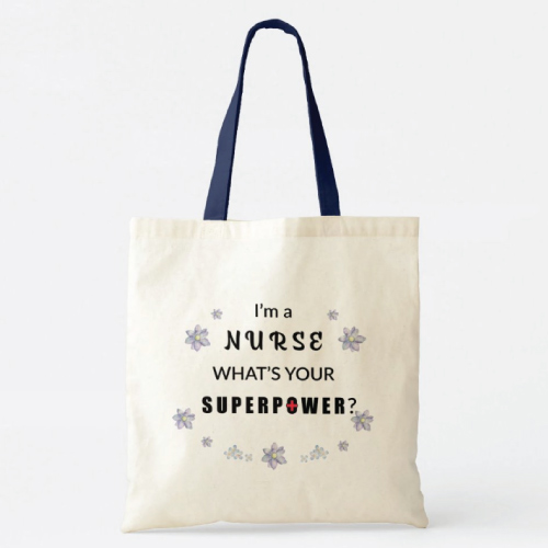 Nurse Superpower Tote Bag