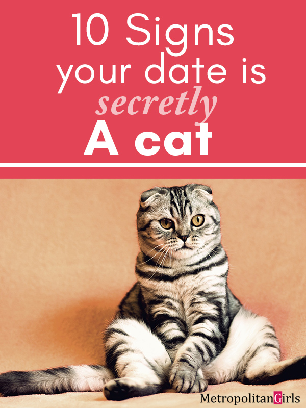 10 Signs Your Date is Secretly a Cat