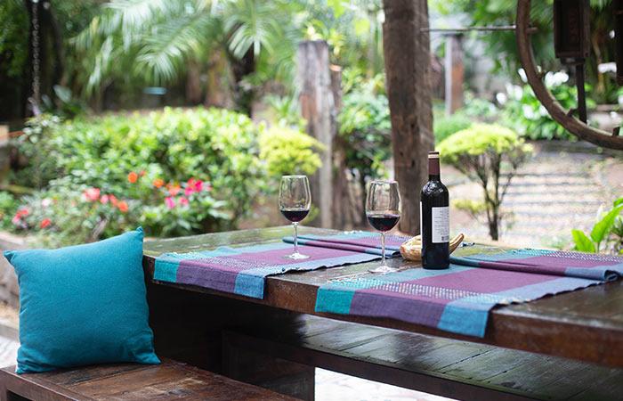 private wine tasting date in the backyard