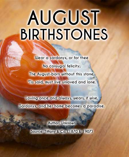 August birthstone poem