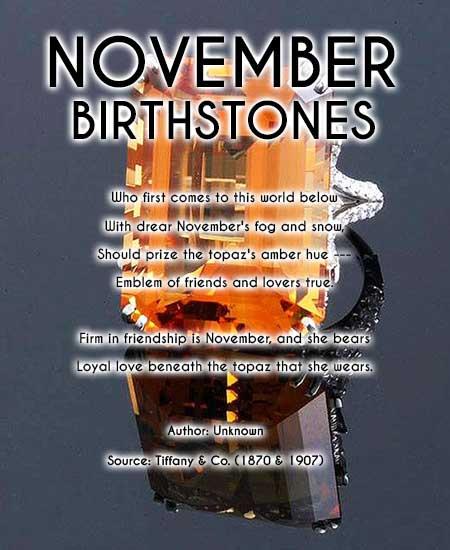november birthstones