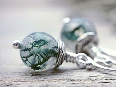 moss agate gemstone
